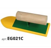 Кельма утюжок с губкой желтой резиновой плотной структуры EG021C