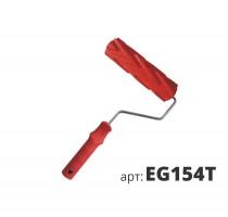 Декоративный жесткий резиновый валик ЗИГЗАГ EG154T