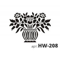 Трафарет виниловый ФИАЛКА HW-208