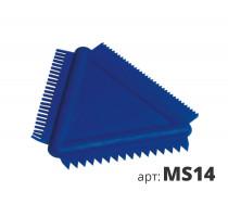 Cкребок-гребенка треугольный MS14