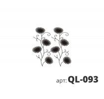 Трафарет виниловый ПИОНЫ QL-093